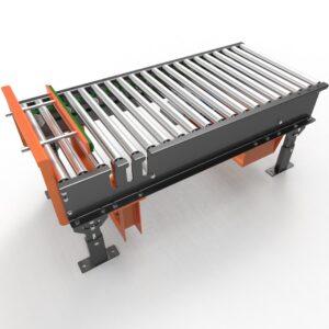 Transportador de Rodillos Motorizado por Cadena Tangencial