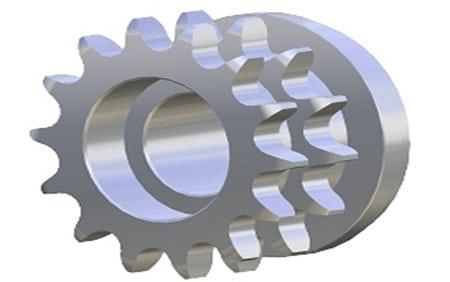 Piñón Metálico Z14 1/2″ Cadena Doble