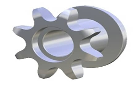 Piñón Metálico Z8 5/8″ Simple
