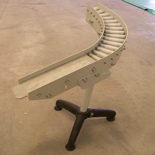 curva de rodillos transportadores de gravedad
