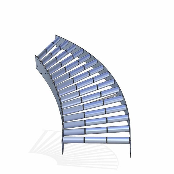 curva de rodillos cilíndricos